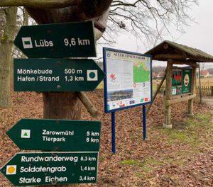 Beliebte Wanderungen in Mönkebude